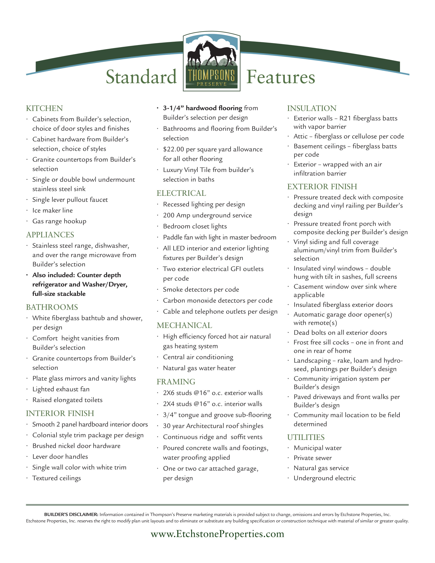 Standard Features